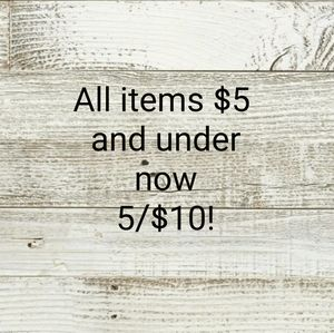 Other - Jewelry, All items $5 and under, now 5 for $10!!